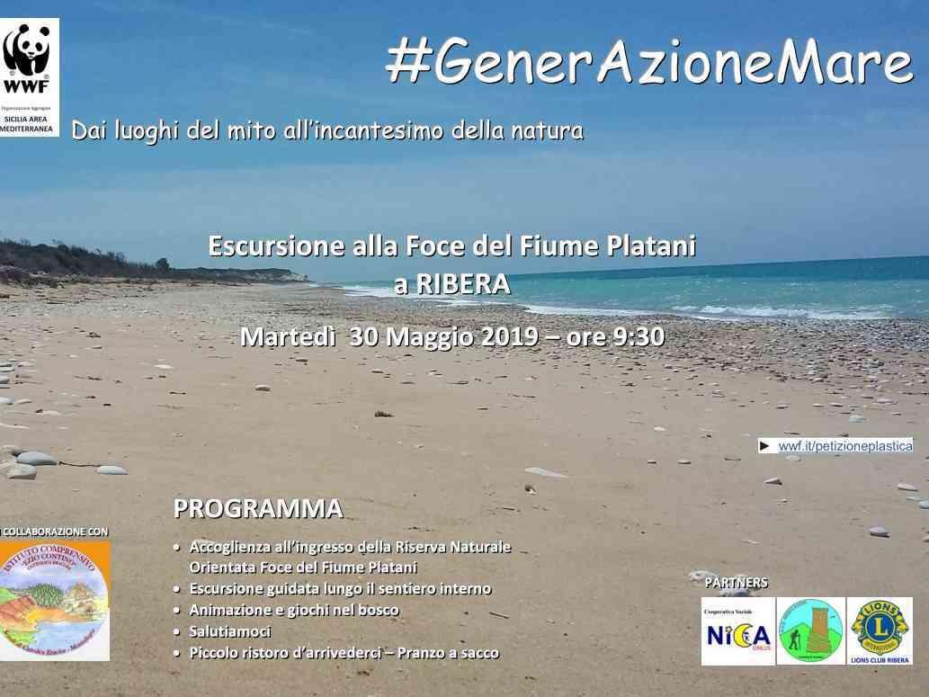 Immagine articolo: In Sicilia, per GenerAzioneMare, ancora una volta il WWF con i bambini alla foce del fiume Platani