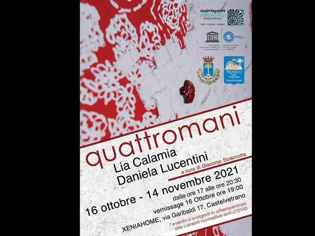 Immagine articolo: Quattromani: mostra di pittura di Lia Calamia e Daniela Lucentini