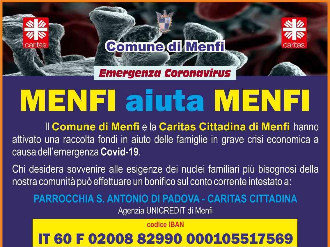 """Immagine articolo: """"Menfi aiuta Menfi"""". La Caritas Cittadina in aiuto delle famiglie meno fortunate"""