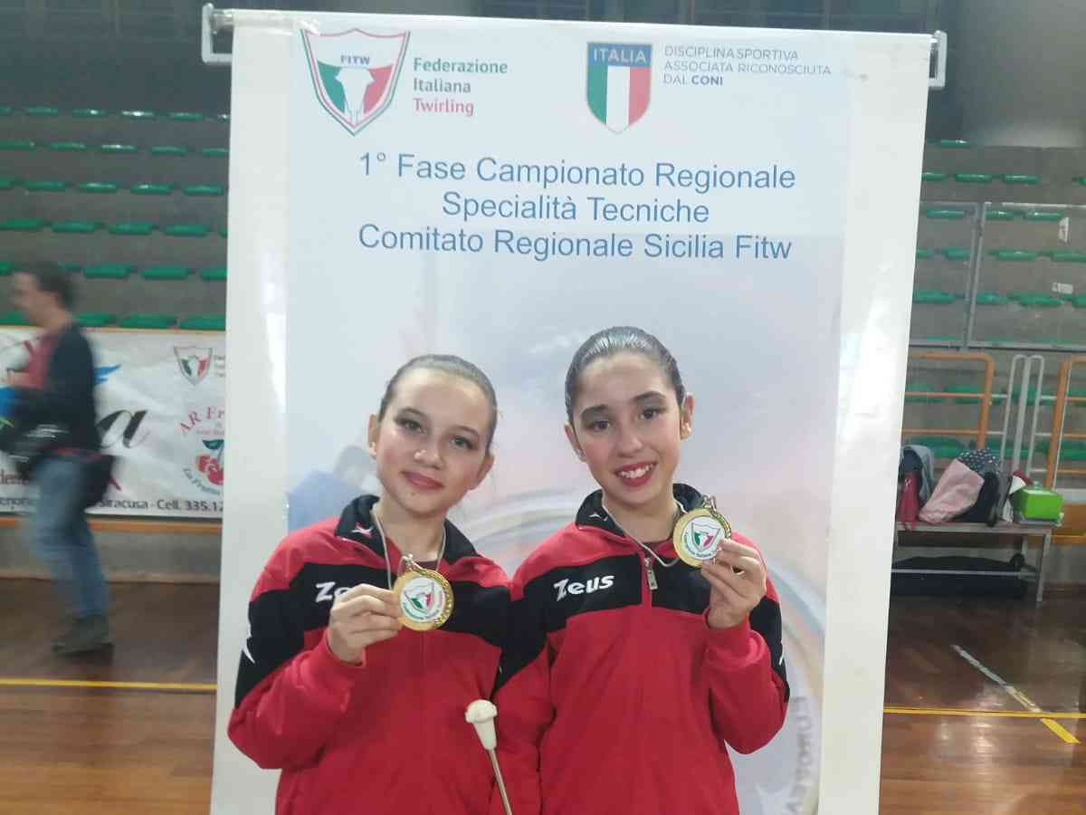 """Immagine articolo: Poggioreale, prestigioso successo per due giovanissime atlete di """"twirling"""""""