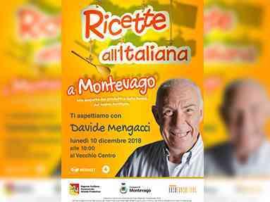 """Immagine articolo: Le telecamere di Mediaset oggi a Montevago. Le eccellezze gastronomiche e non solo nella trasmissione """"Ricette all'Italiana"""""""