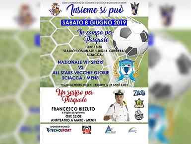 Immagine articolo: La Nazionale Vip Sport scende in campo per Pasquale Bonfante, sabato 8 Giugno ore 16,30 allo stadio comunale di Sciacca