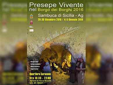 """Immagine articolo: Sambuca di Sicilia, """"Un bambino è nato a Betlemme"""", appuntamento con il presepe vivente il 29 e 30 dicembre e non solo"""
