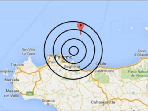 Immagine articolo: Scossa di terremoto al largo di Palermo questa mattina, magnitudo fra 4.3 e 4.8: avvertita anche in provincia