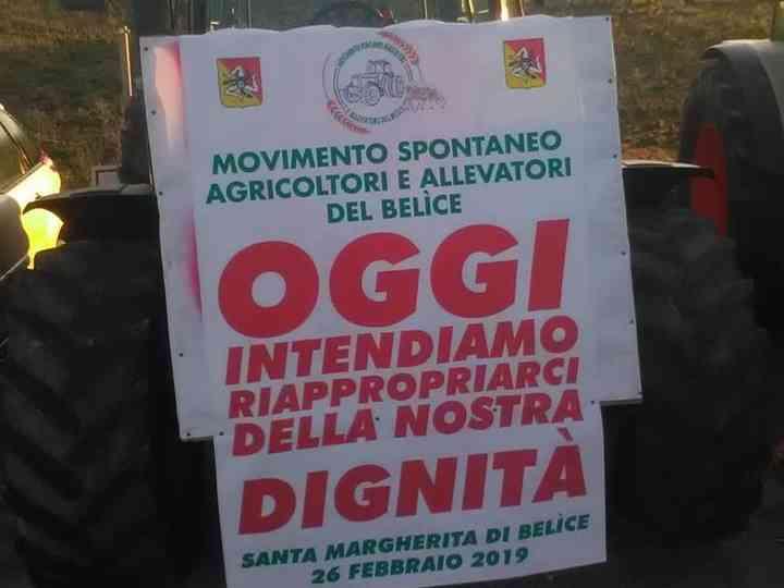 Immagine articolo: S. Margherita, rimonta la protesta del mondo agricolo del Belice