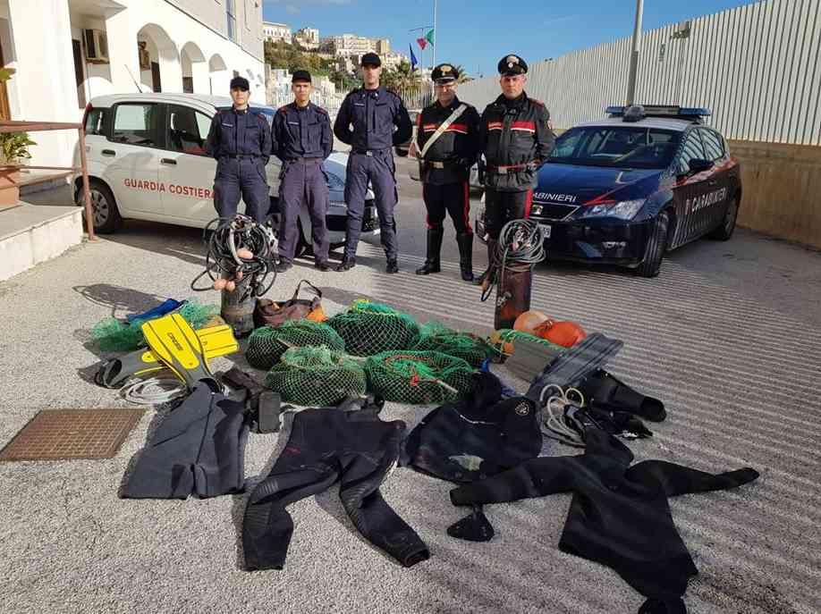 Immagine articolo: Sequestrati 1.500 ricci di mare, operazione di contrasto alla pesca illegale del Circomare e compagnia dei Carabinieri di Sciacca