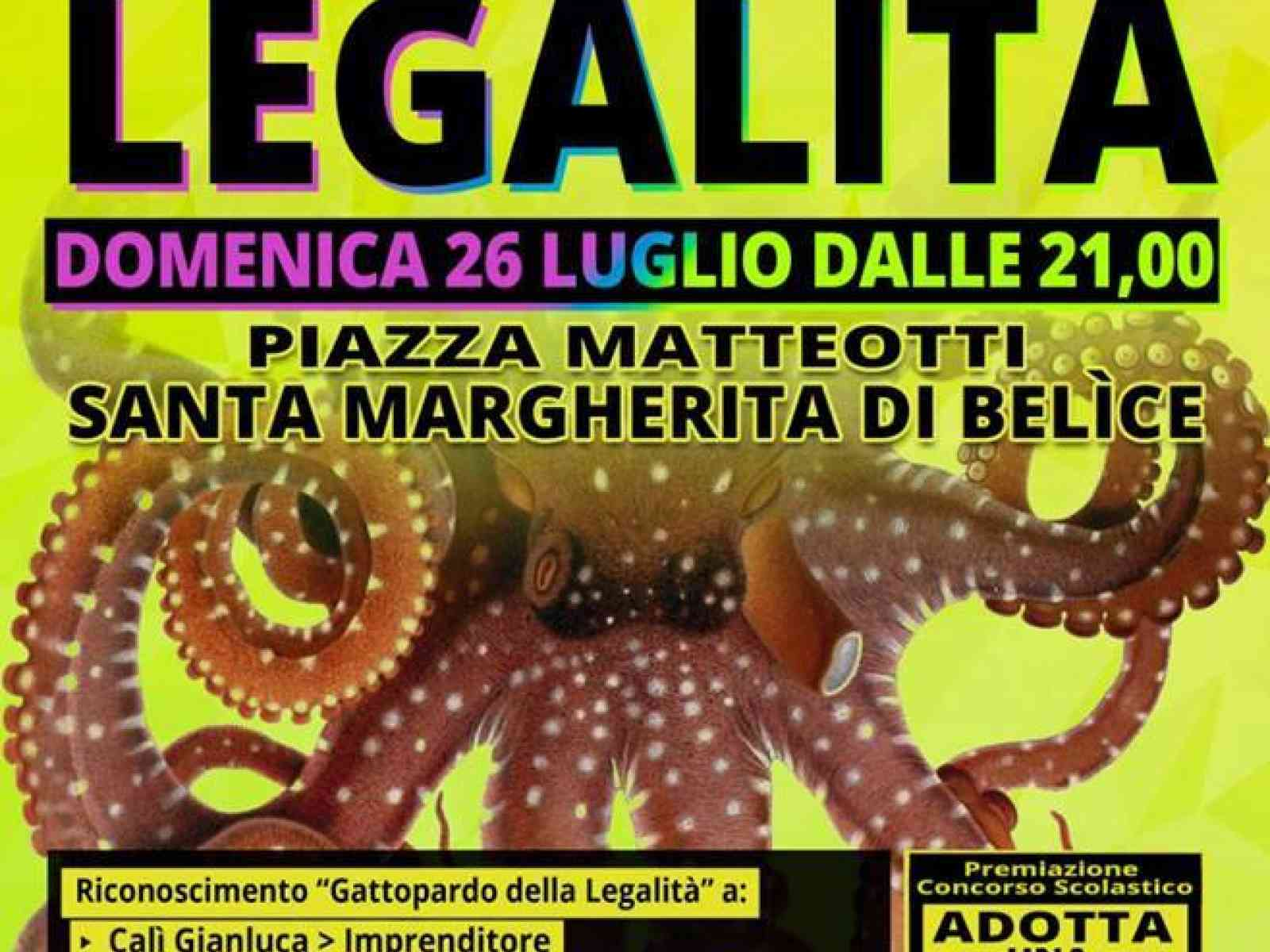 """S. Margherita. La 5a edizione de """"L'Alba della Legalità"""" il 26 luglio"""