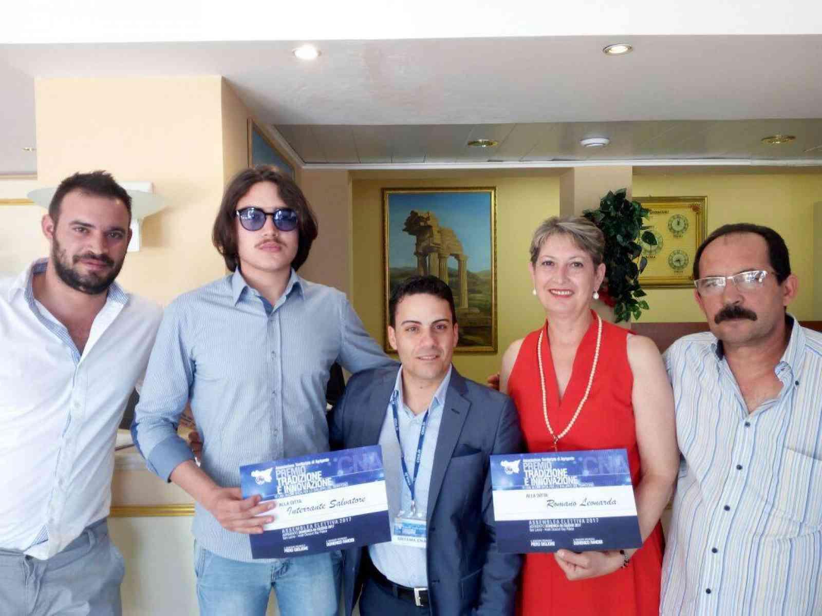 Due ditte di Menfi ricevono il Premio Tradizione e Innovazione da parte del CNA