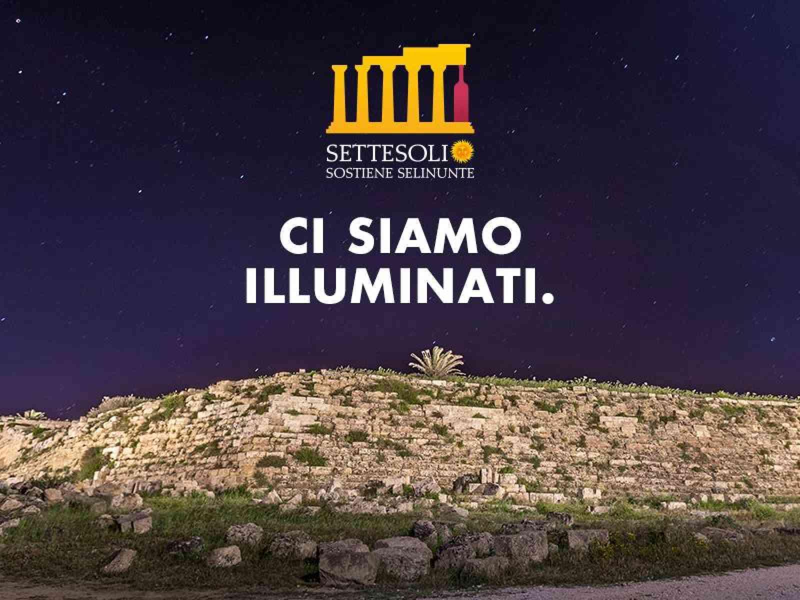 Settesoli Sostiene Selinunte. Illumintate le mura orientali di Selinunte. Previsti altri interventi
