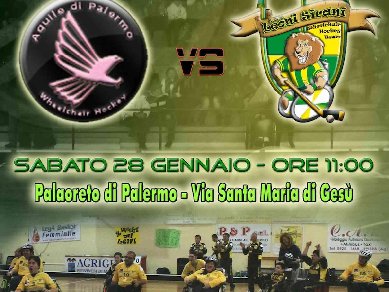 """I """"Leoni Sicani"""" in trasferta a Palermo contro le """"Aquile"""""""