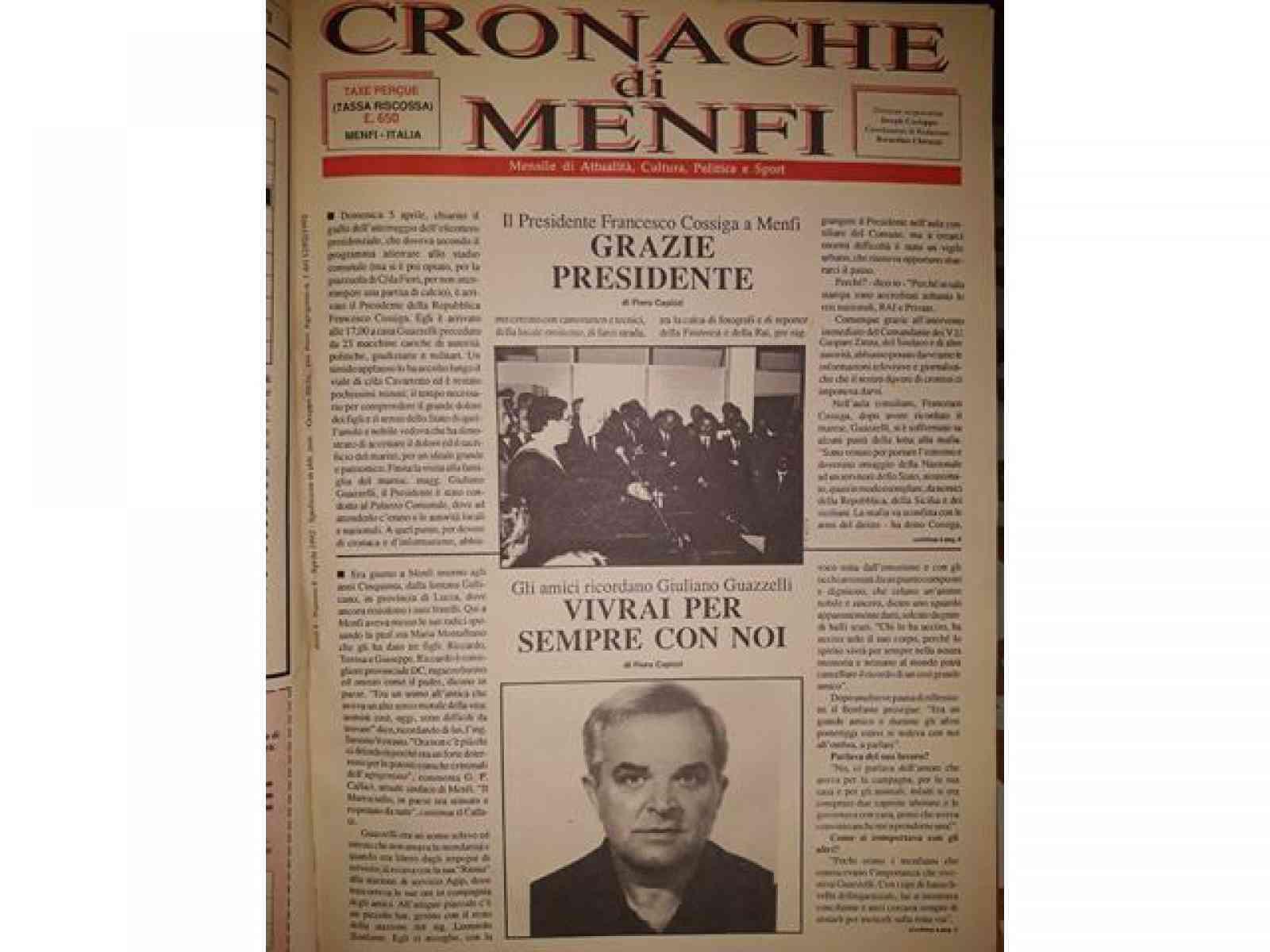 L'uccisione di Giuliano Guazzelli in un articolo storico