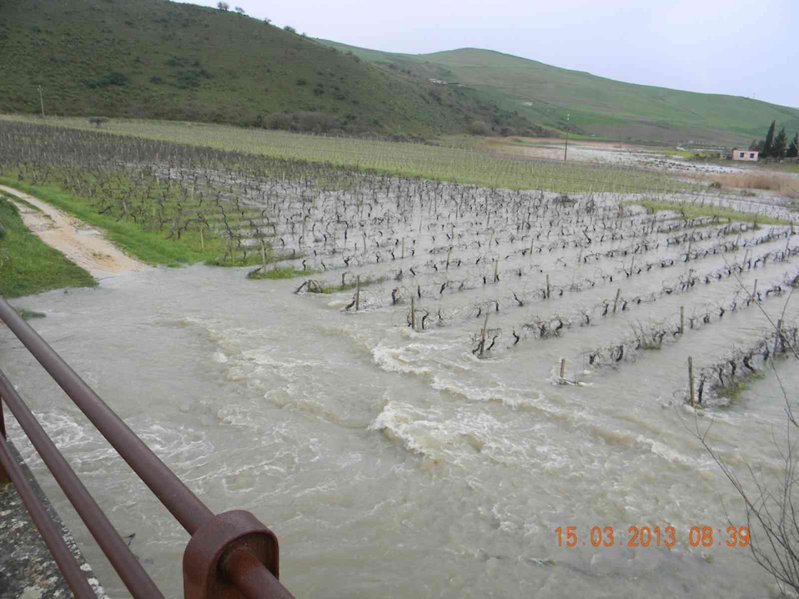 Salaparuta e Poggioreale fanno la conta dei danni dopo la pioggia. Danni a strade e colture