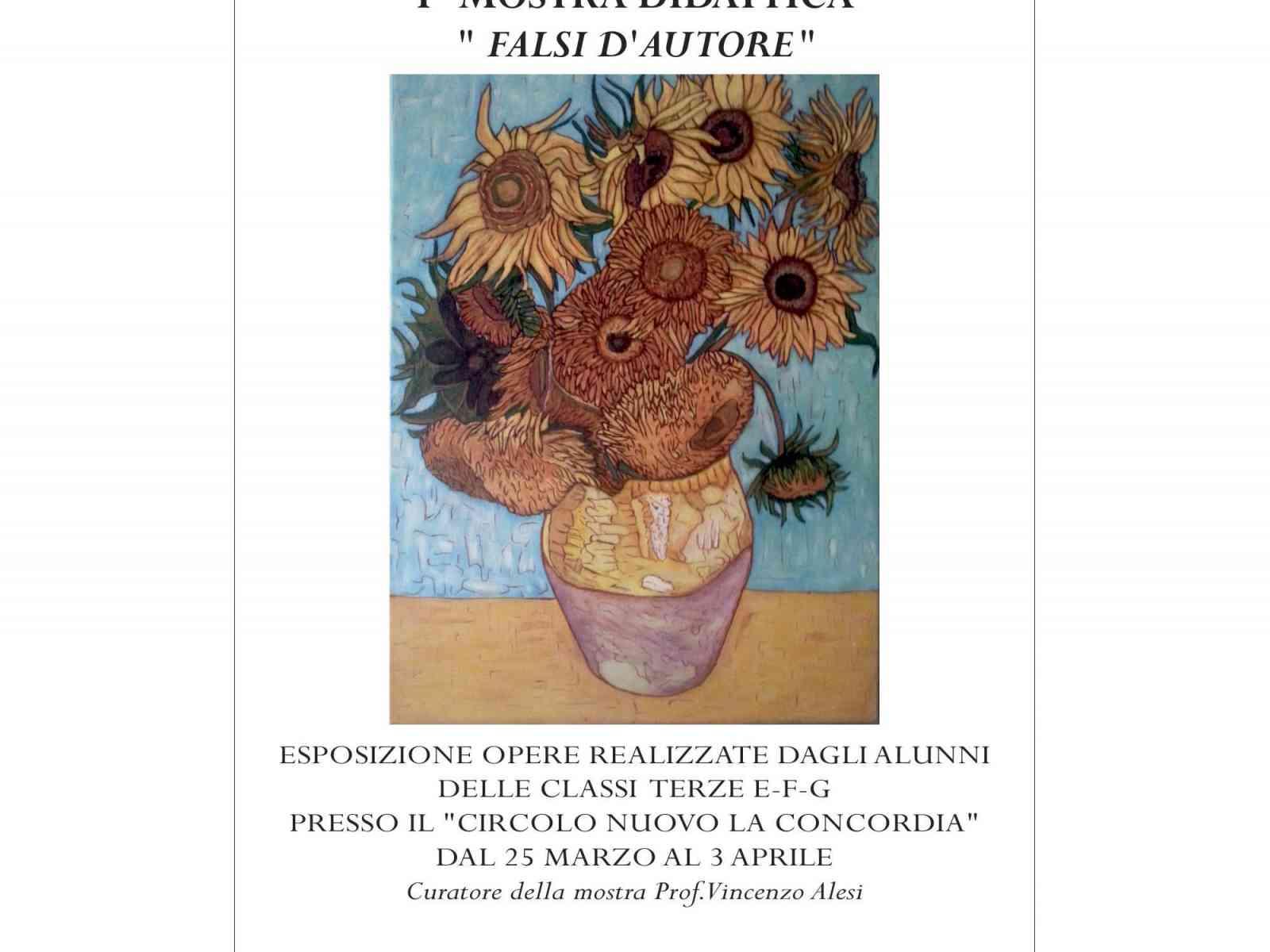 """Menfi. Fino al 3 aprile una mostra sui """"Falsi d'Autore"""" realizzata dagli alunni delle medie"""