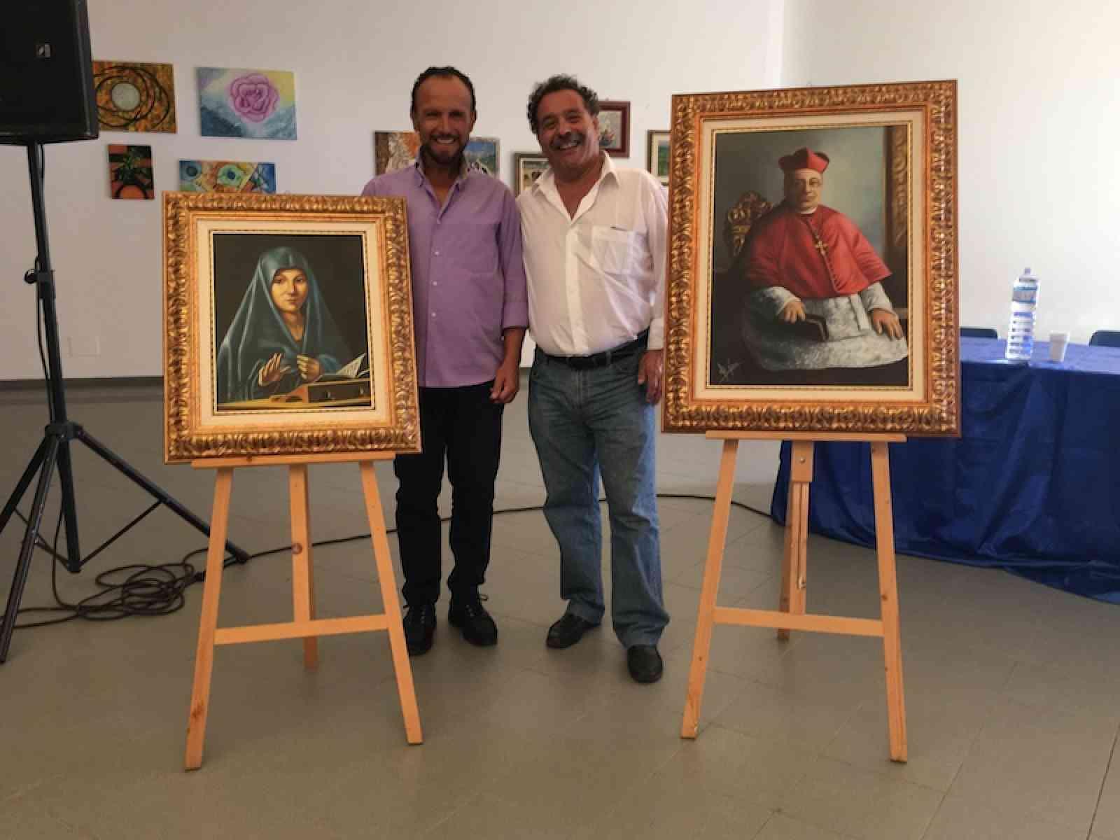 L'artista Pippo Vaccaro dona due dipinti a Salaparuta