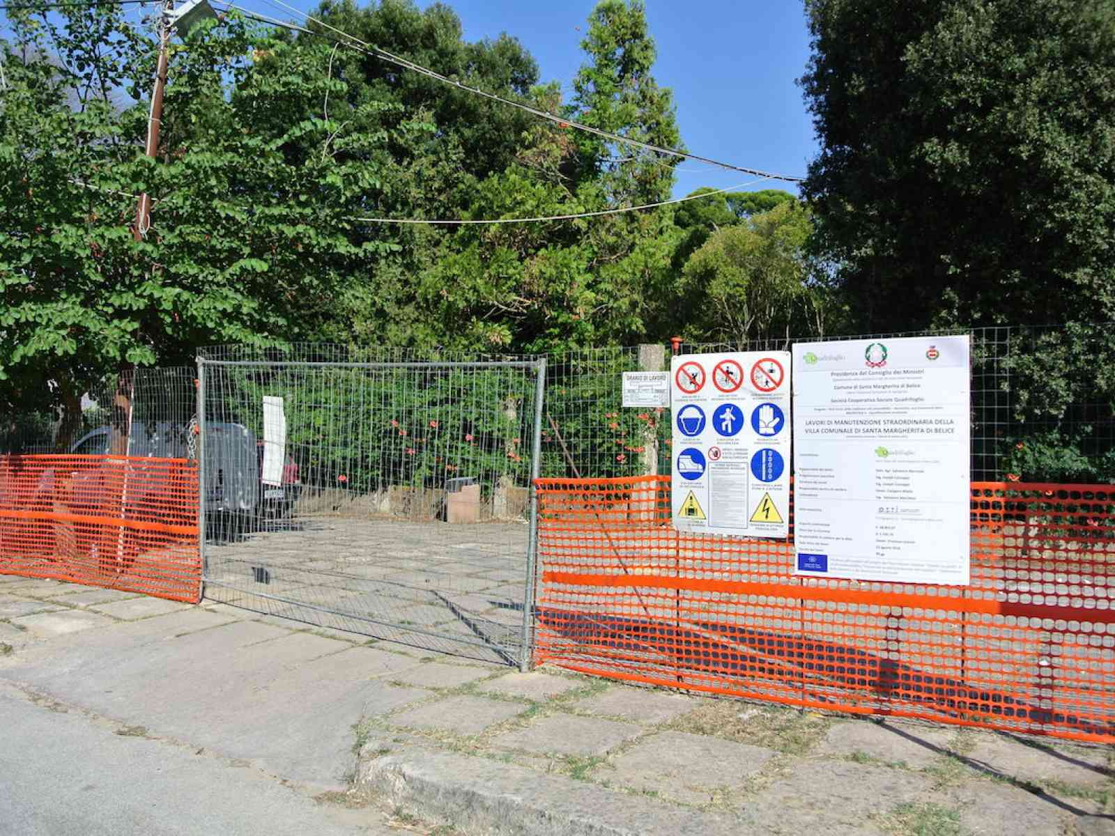 """S. Margherita. Riapre la """"Passeggiata"""", la villa comunale dell'omonima opera di G. Tomasi di Lampedusa"""