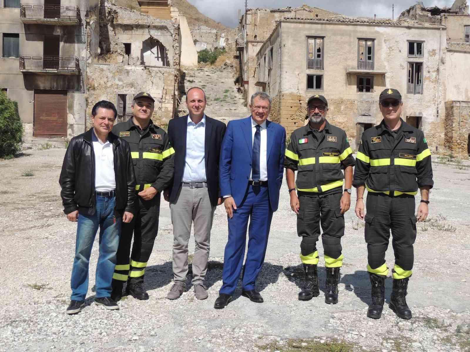 Il Prefetto di Trapani visita l'esercitazione svolta presso i ruderi di Poggioreale