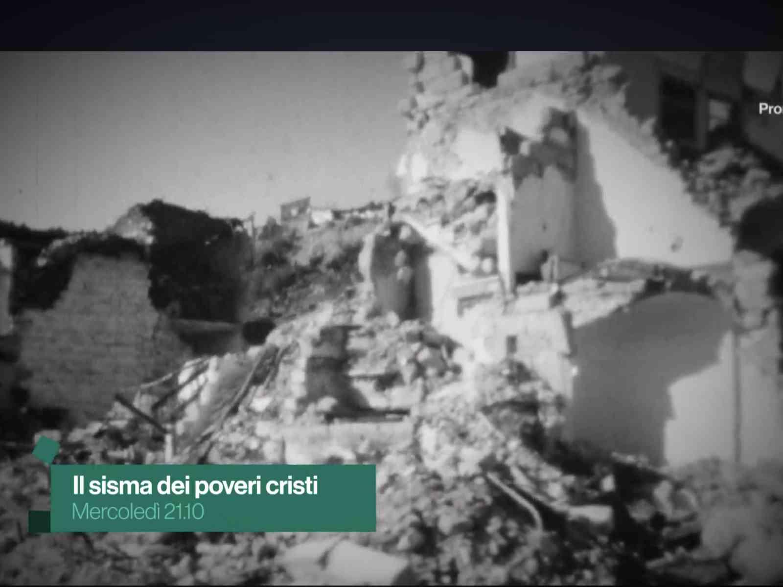 """""""Il sisma dei poveri cristi"""". Mercoledì, su RaiStoria, un documentario sul terremoto nel Belìce"""