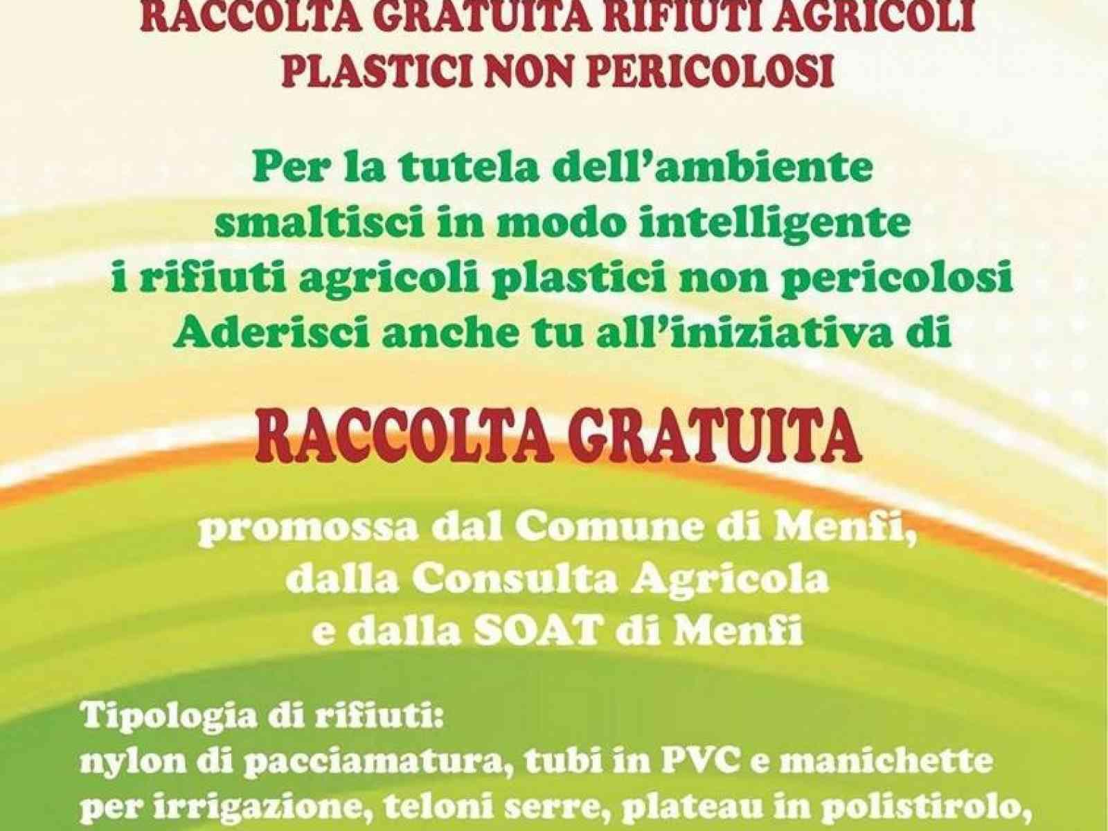 Menfi. Parte la raccolta adesioni per la raccolta gratuita dei rifiuti agricoli plastici non pericolosi