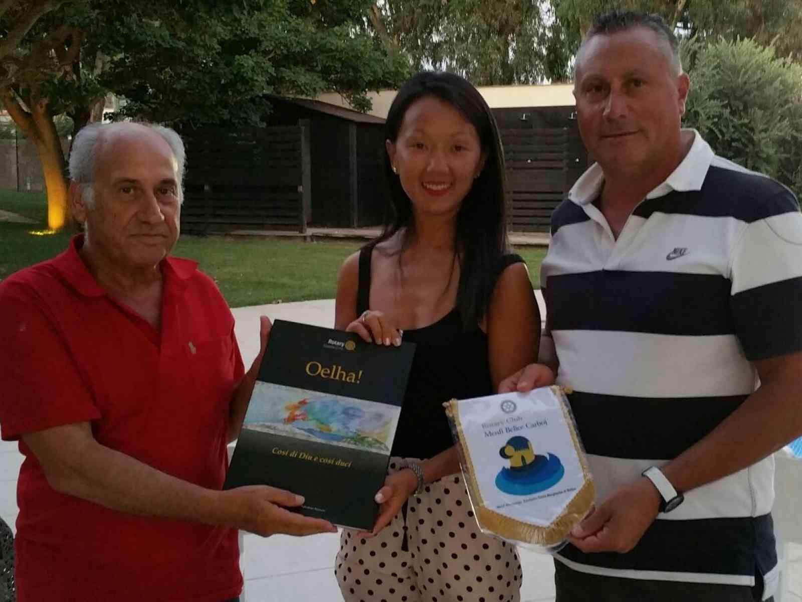Rotary Club Menfi Belice-Carboj organizza incontro sul turismo. Presente la tour operator cinese Anmin Peng