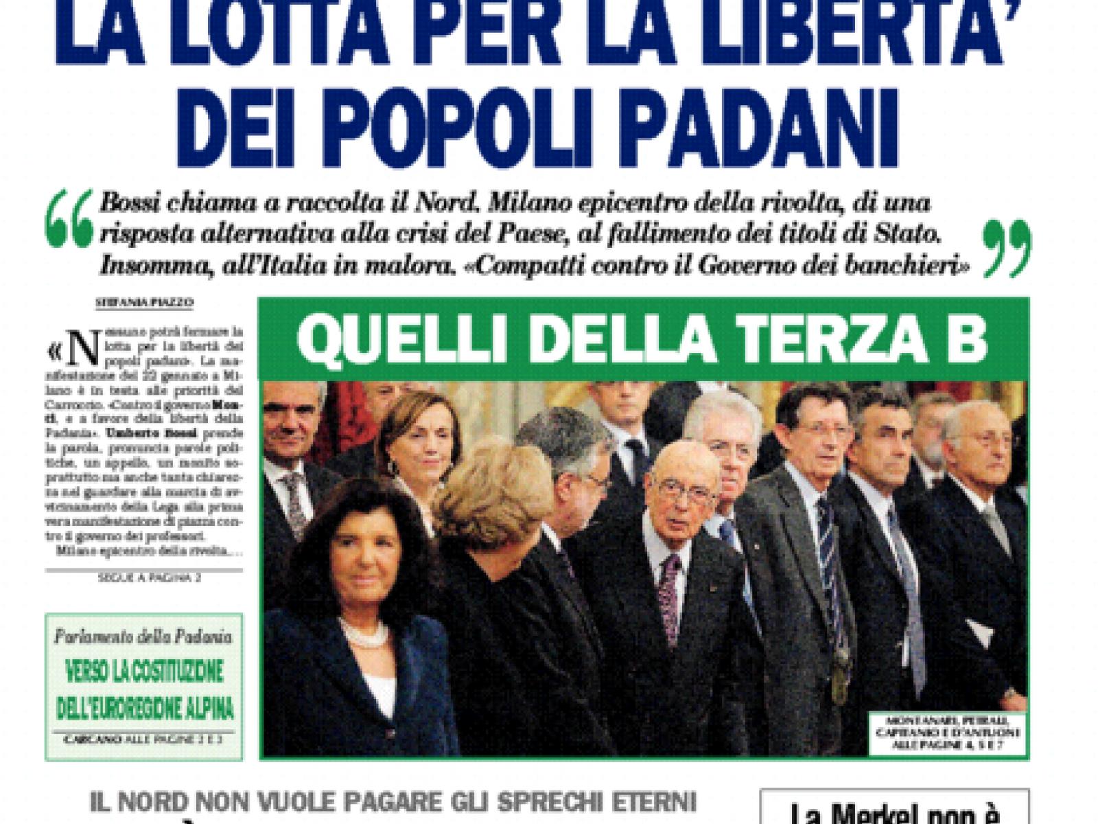 La Padania vs Belice: Botta e Risposta
