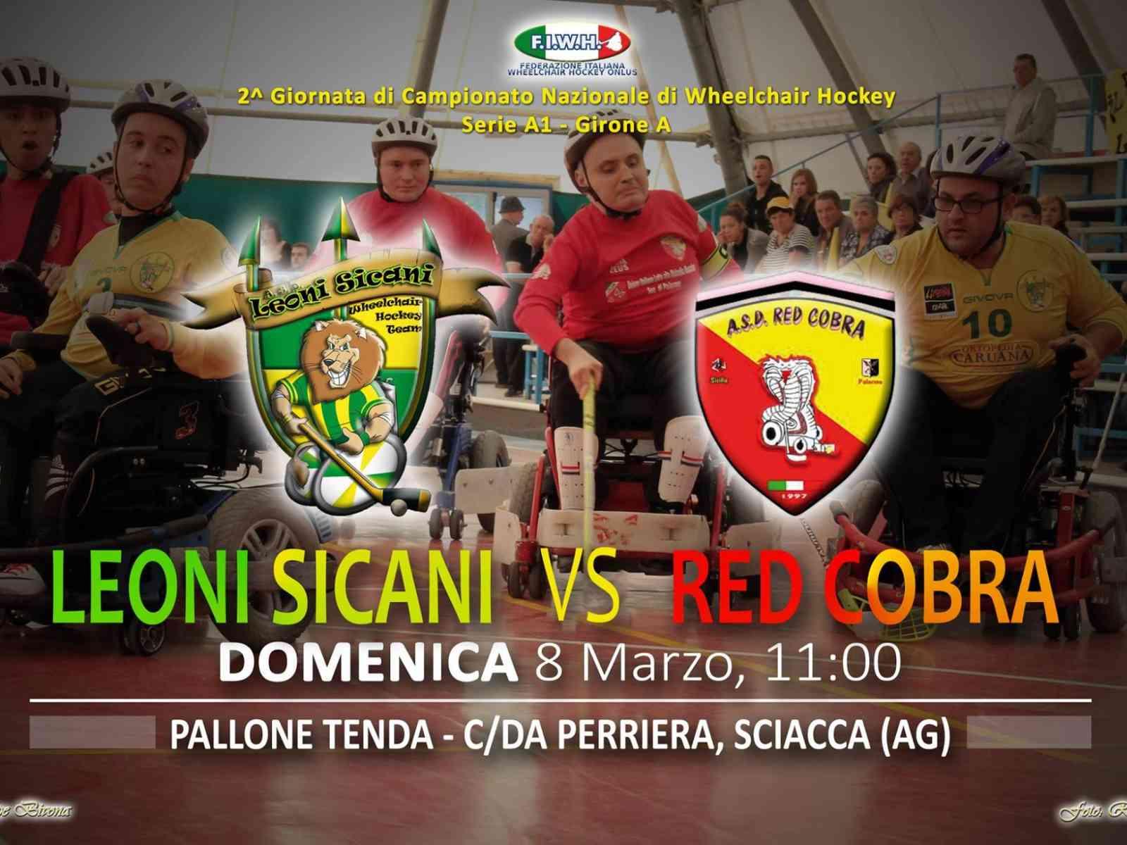 Leoni Sicani e Red Cobra Palermo. Recupero 2^ giornata domenica al pala tenda di Sciacca