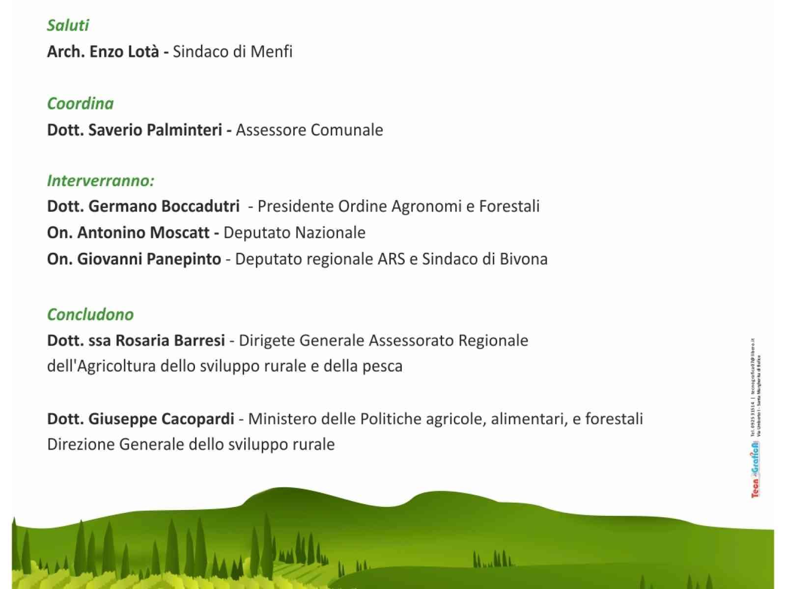"""""""#RisorsaAgricoltura: Prospettive ed Opportunità"""". Venerdì a Menfi la Dirigente dell'Assessorato Regionale dell'Agricoltura"""