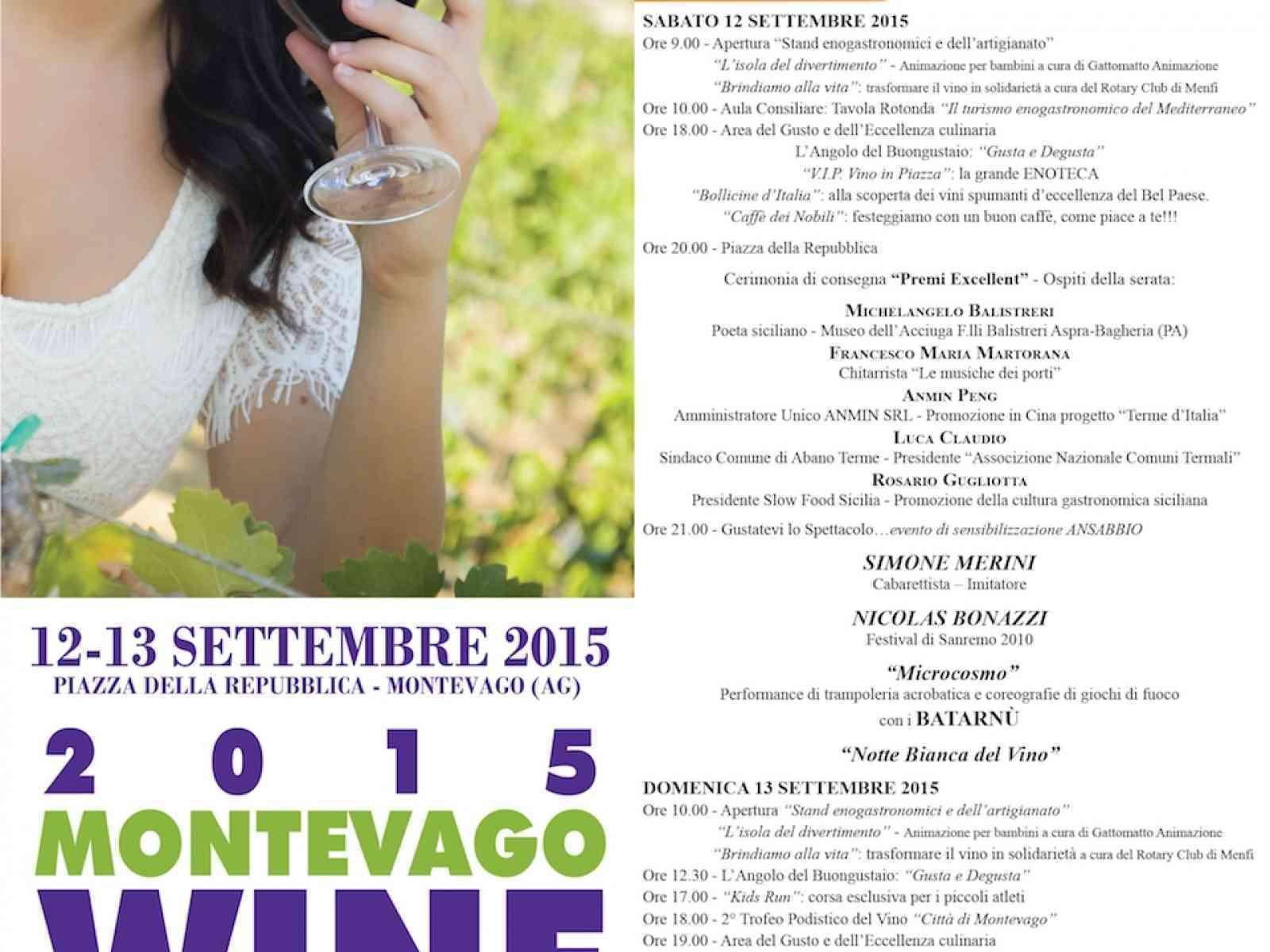 Questo weekend ritorna il Montevago Wine Festival 2015. Domenica Deborah Iurato