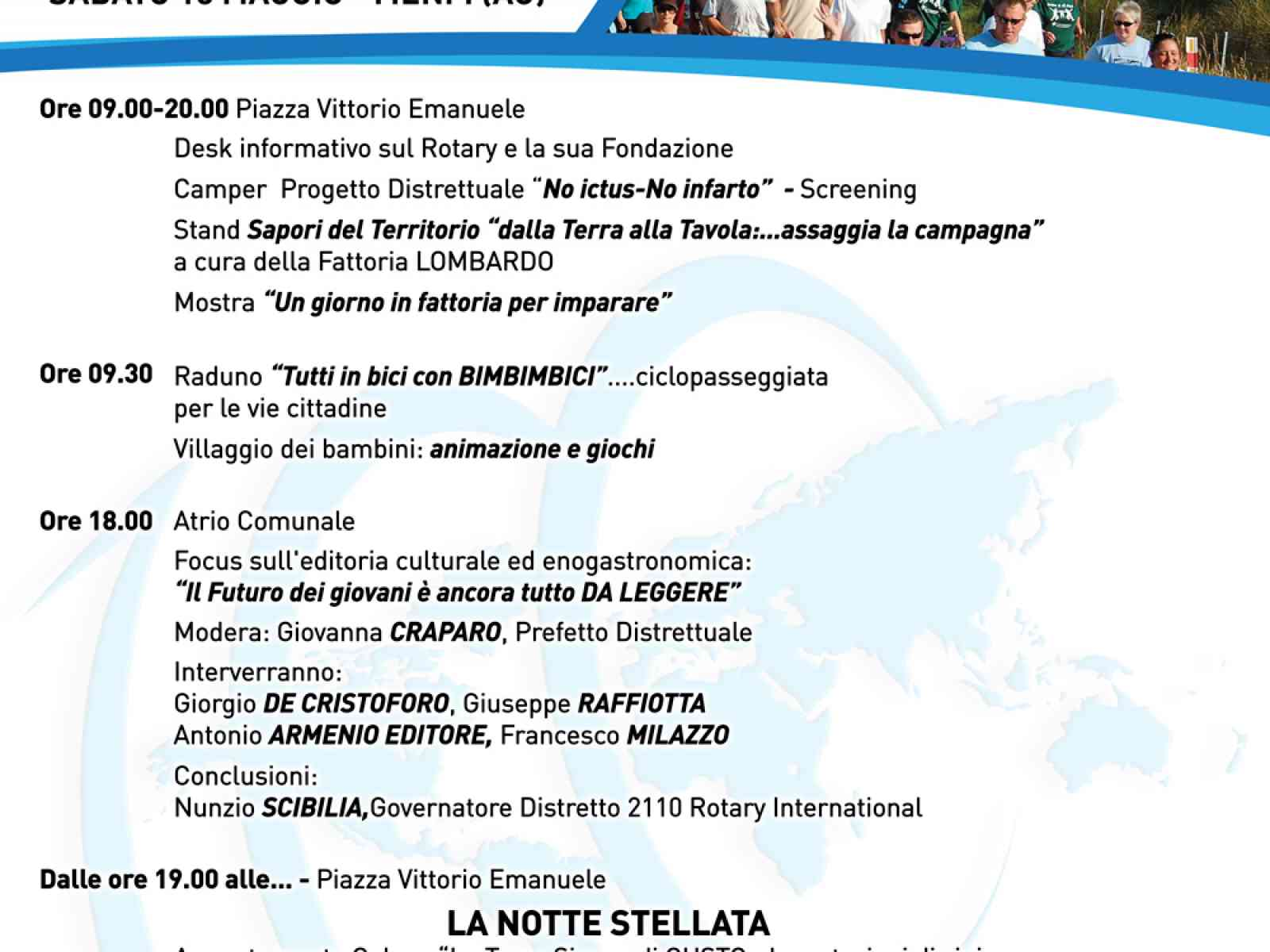 """Il Rotary di Menfi celebra il """"Centenario della Fondazione Rotary"""""""