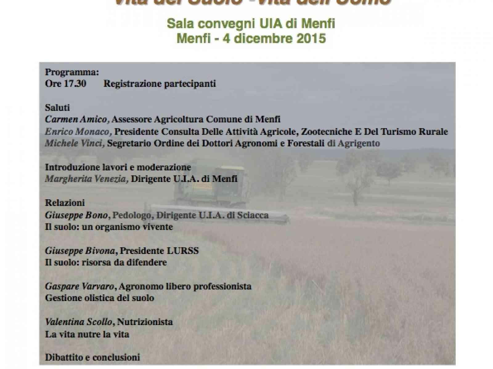 Menfi. La Consulta Agricola Zootecnica e del Turismo Rurale ottiene il patrocinio FAO per attività Locali