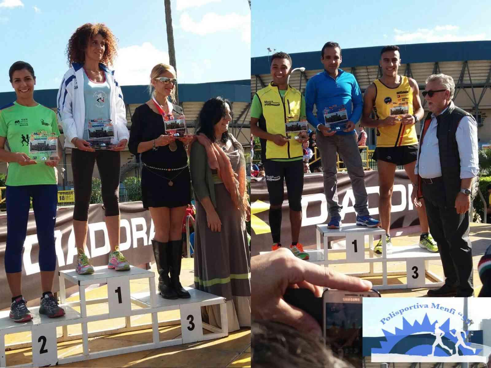 22a mezza maratona di Palermo. 2 Podi per la Polisportiva Menfi 95 con Idrissi e la Scaturro