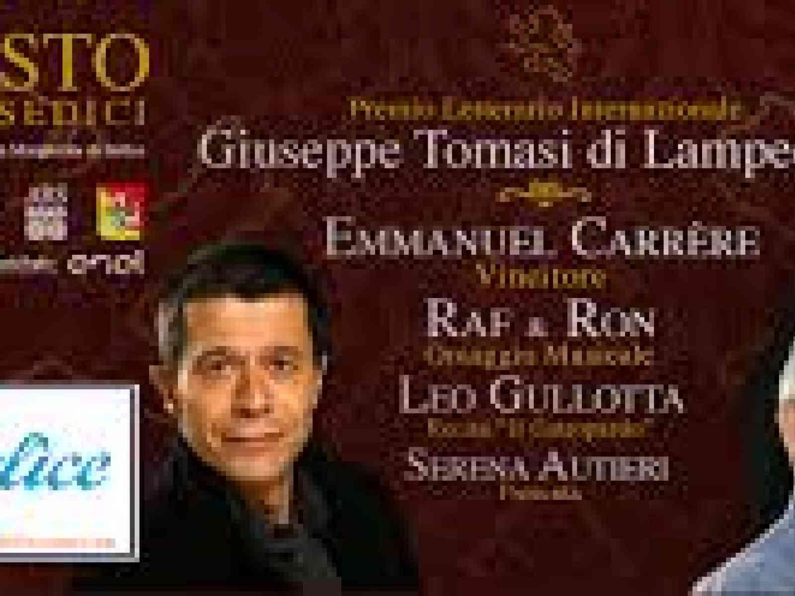 """Domenica il  Premio Letterario Internazionale """"Giuseppe Tomasi di Lampedusa"""" 2016."""