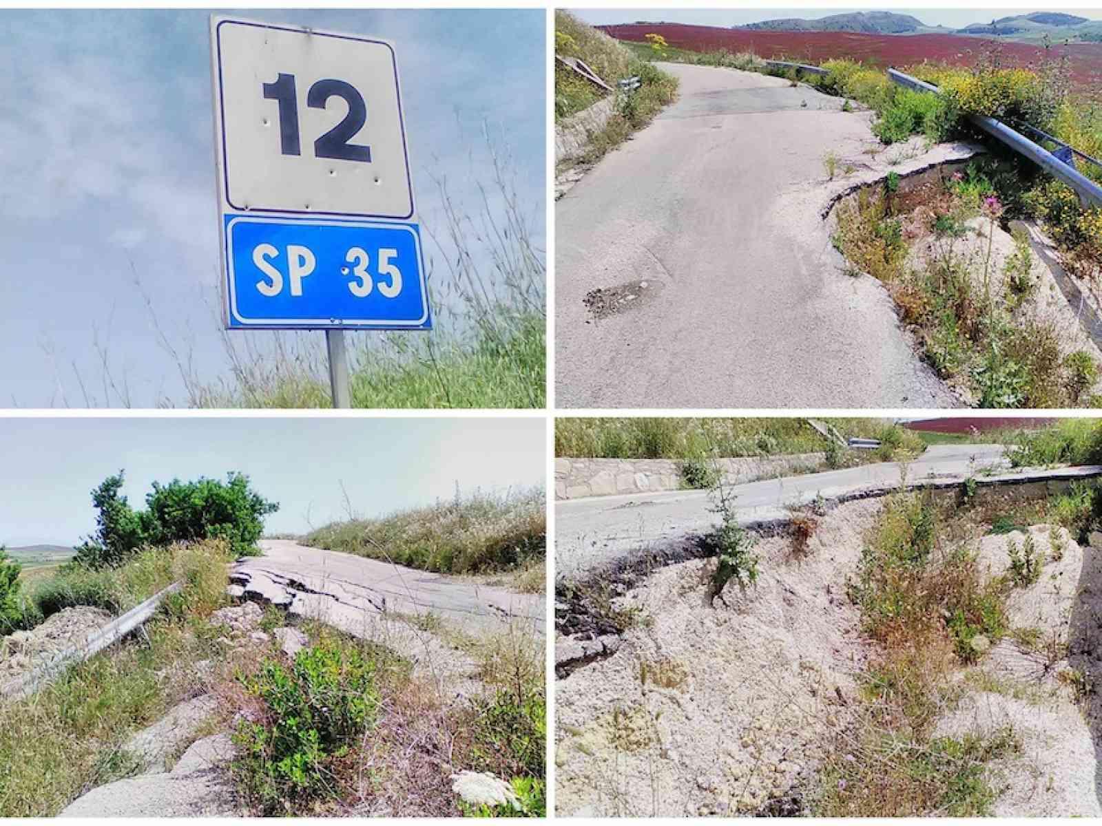 """S. Margherita. La SP35 a pezzi. Terreni isolati, gli agricoltori: """"Però ci chiedono di pagare l'IMU"""""""
