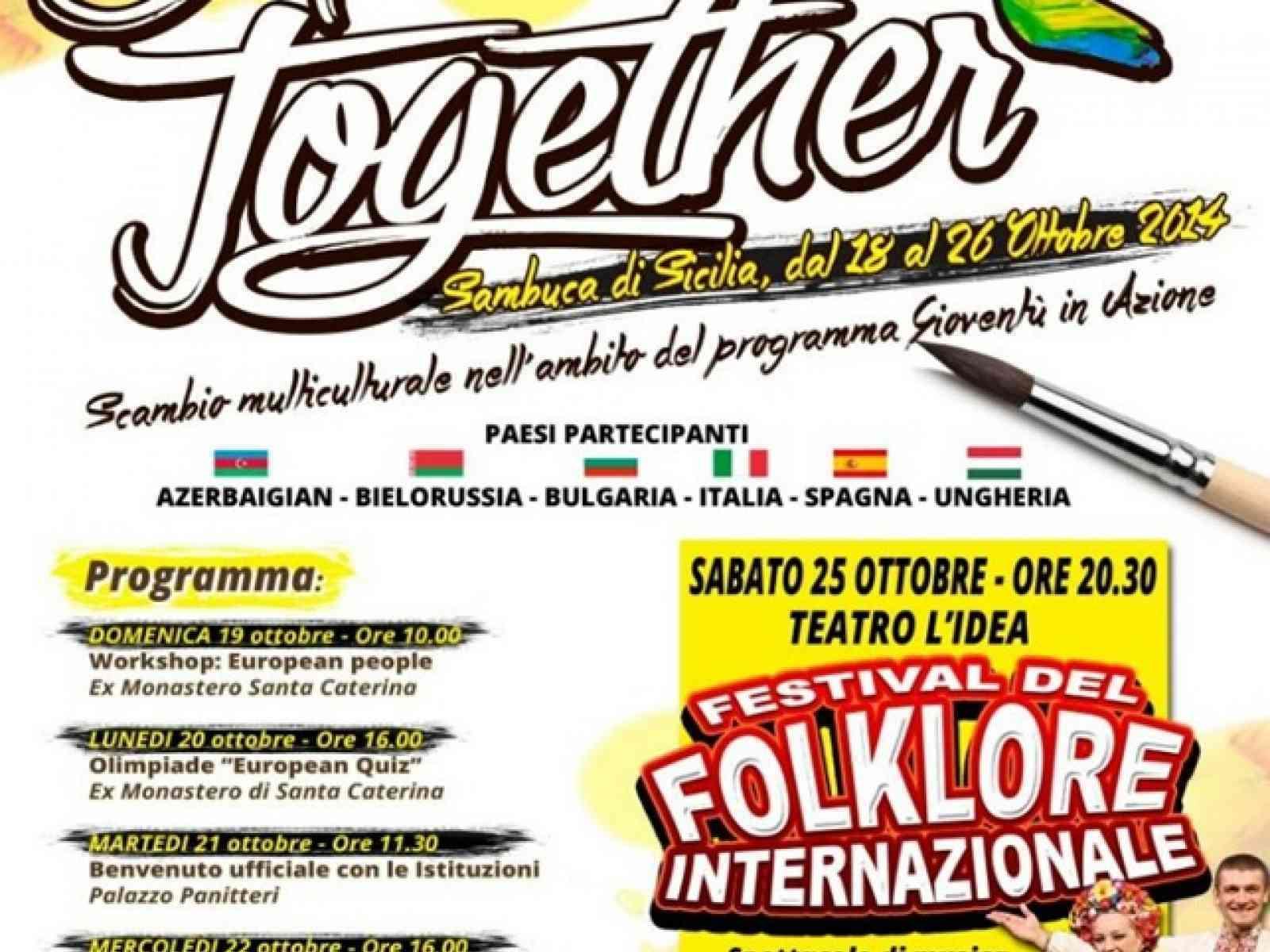 """Scambio di giovani """"Art Act Together 2"""" – Sambuca di Sicilia ospita l'Europa"""