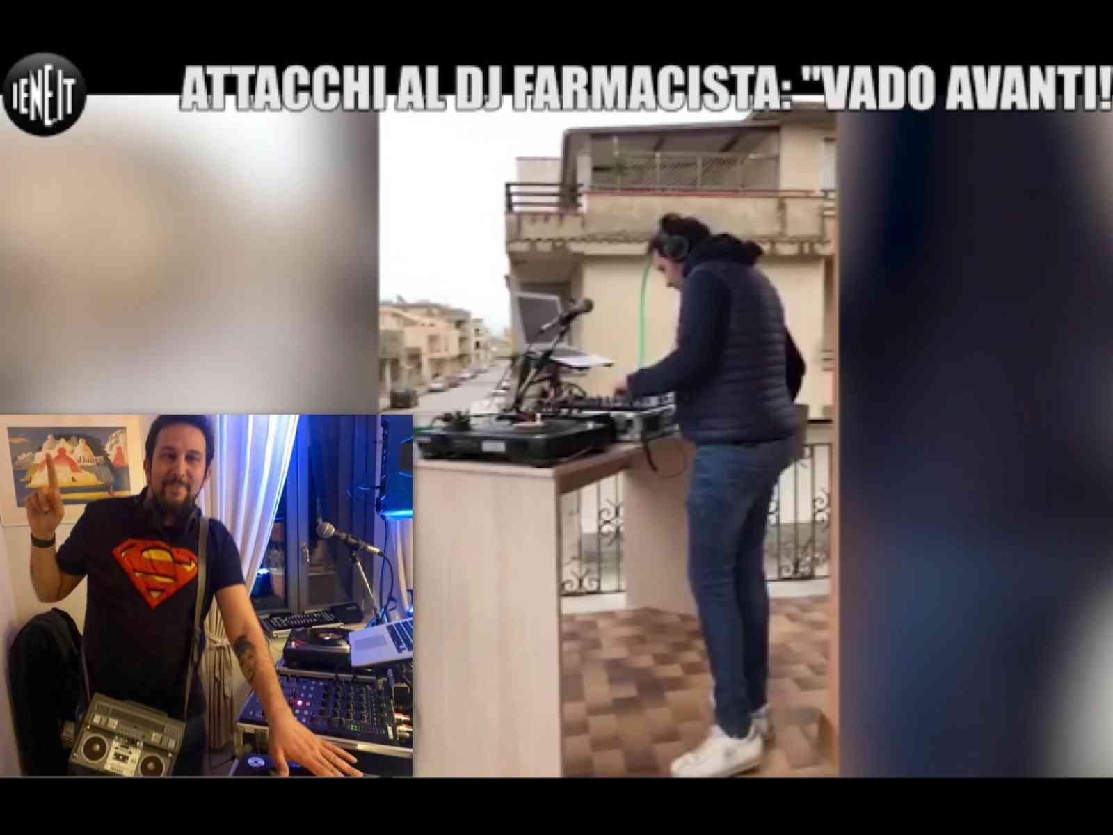 """Immagine articolo: Menfi, dal deejay set in balcone al servizio delle """"Iene"""" tra solidarietà e affetto dopo gli attacchi. """"Domenica mattina torno a suonare"""""""