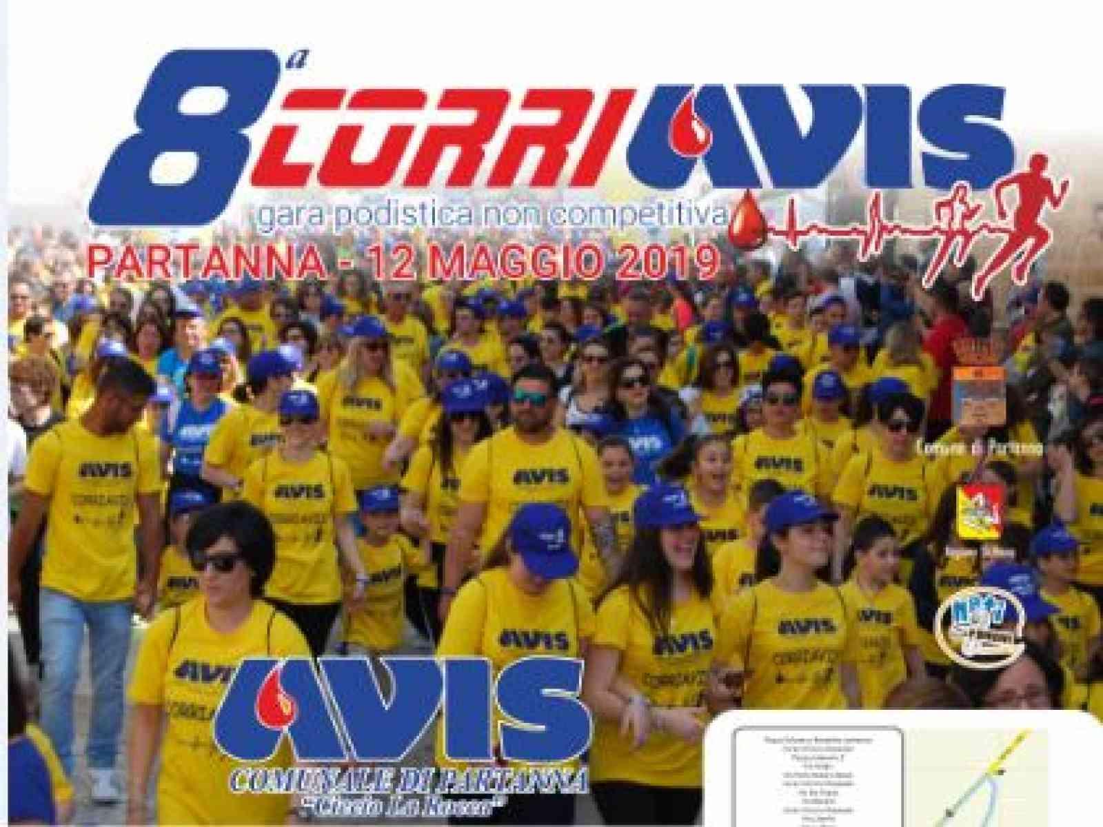 Immagine articolo: Partanna. Domenica 12 maggio, si terrà l'8° CORRIAVIS family run. Partenza in piazza Falcone Borsellino