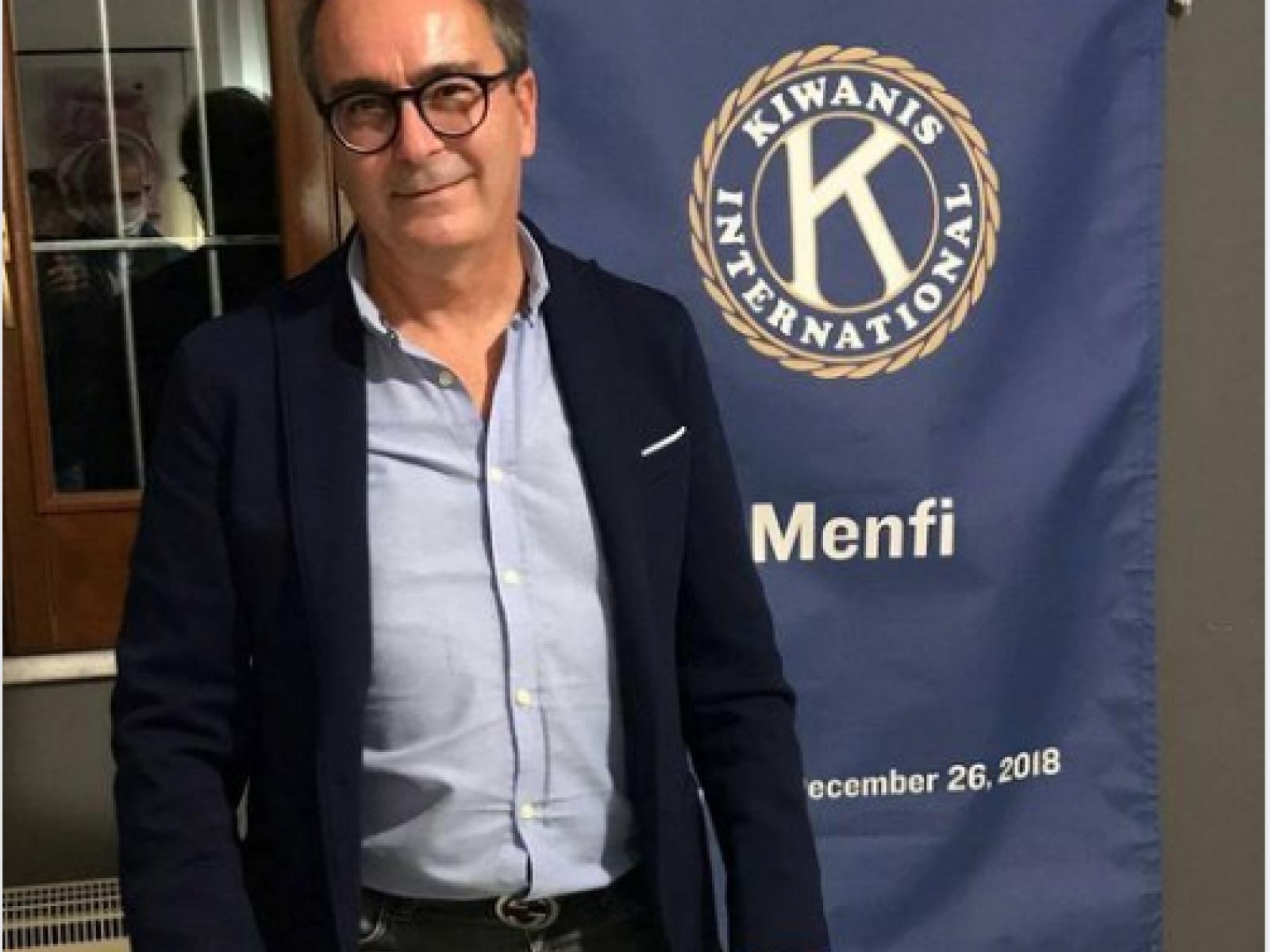Immagine articolo: Kiwanis Menfi: passaggio della campana . Nino Moschitta nuovo presidente.