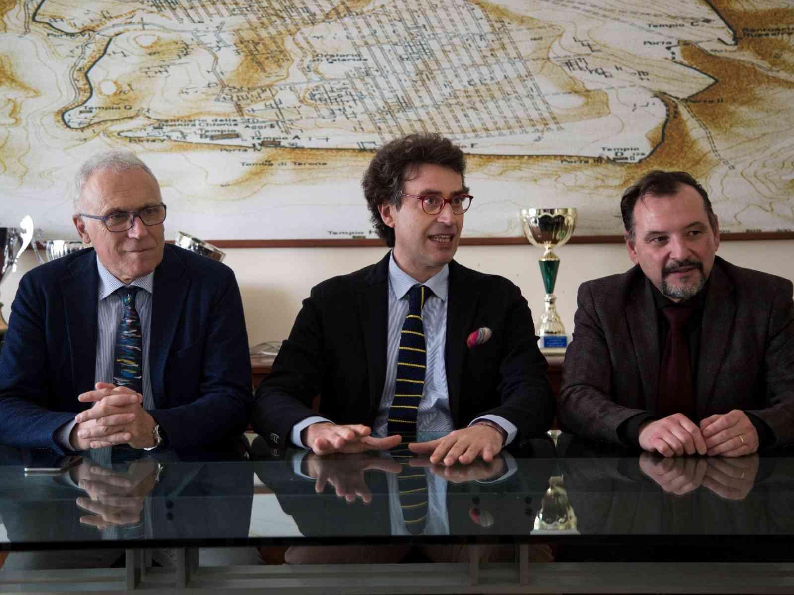 Da destra Rino La Mendola, Alfonso Cimino, Pietro Fiaccabrino