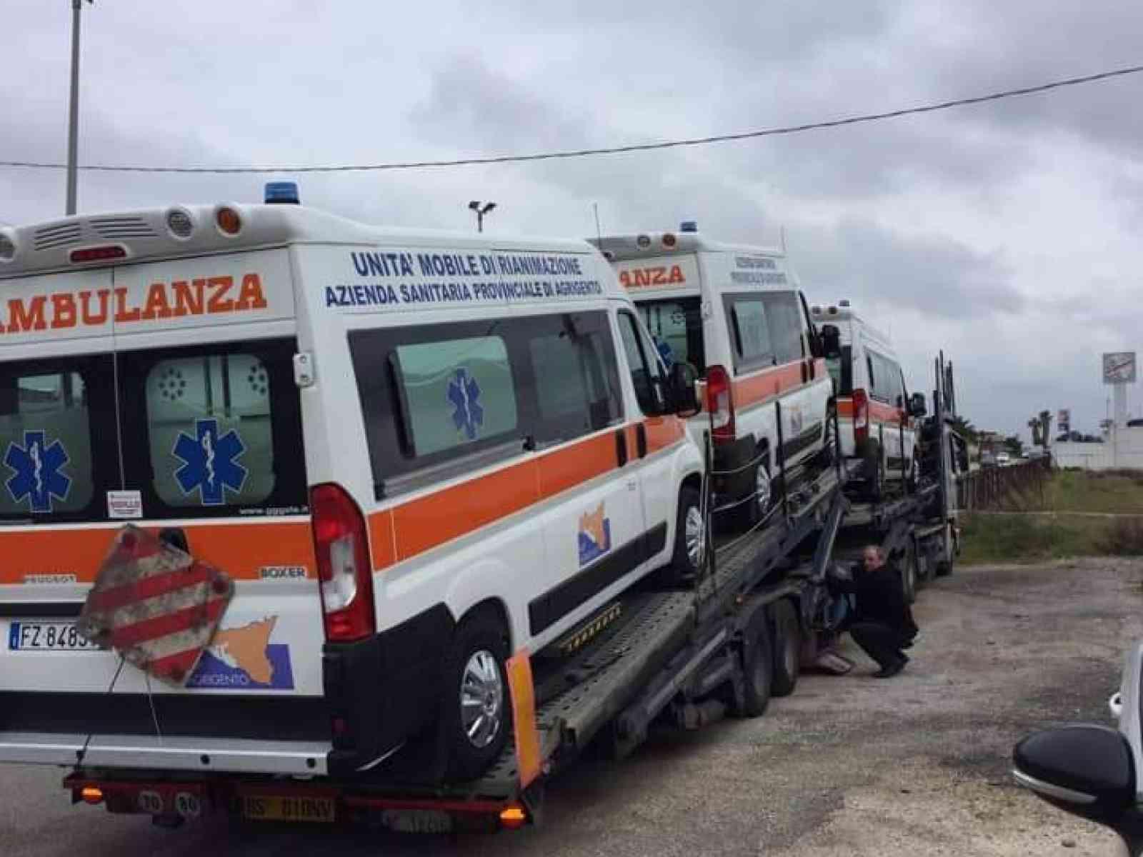 Immagine articolo: Consegnate le sei ambulanze destinate ai presidi ospedalieri dell'agrigentino