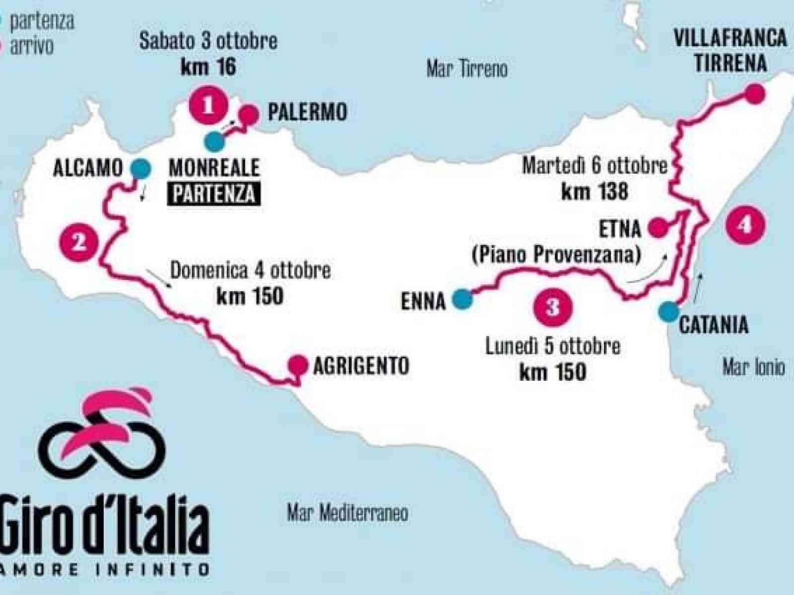 Immagine articolo: Giro d'Italia, nuovo asfalto e segnaletica sulla statale 115. Ecco la data prevista