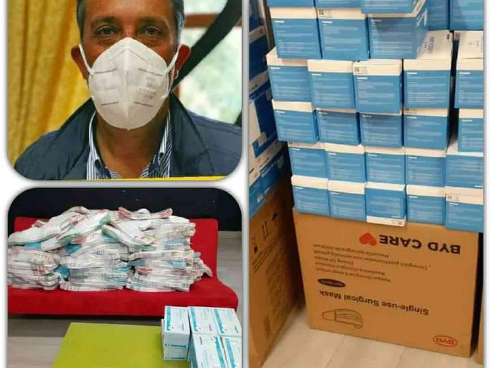 Immagine articolo: A S.Margherita consegnate dal Dipartimento Regionale Protezione Civile consegnate 12.700 mascherine.