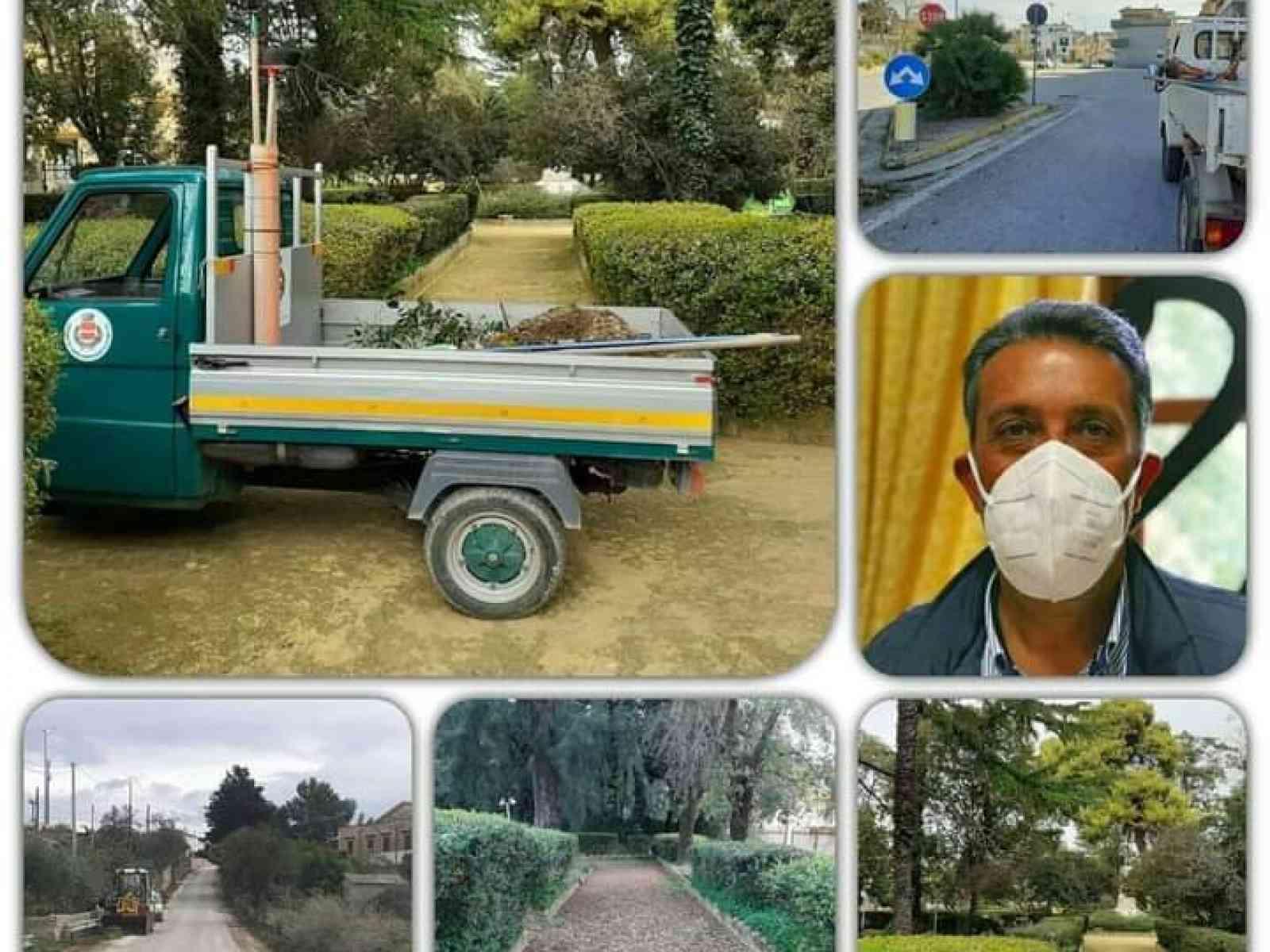 Immagine articolo: Mezzi e operai comunali di Santa Margherita per ripulire le strade