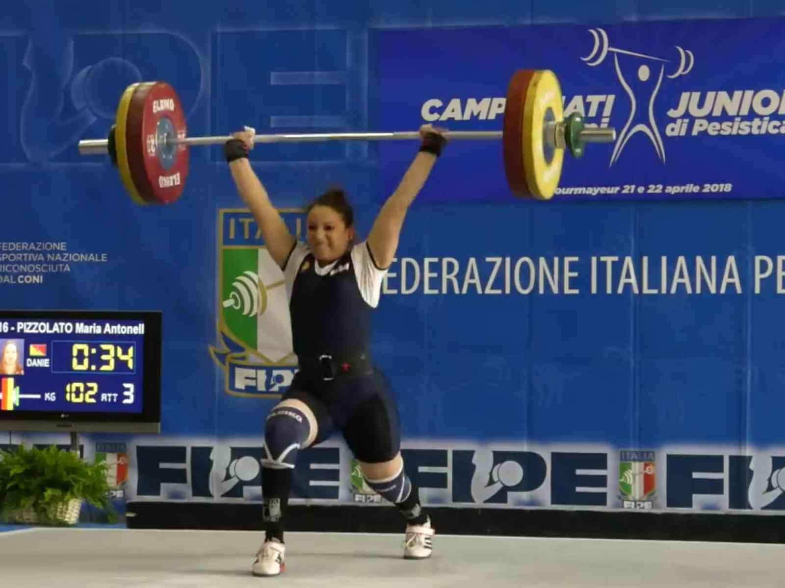 Immagine articolo: Salaparuta, Maria Antonella Pizzolato trionfa a Courmayeur e conquista il titolo italiano femminile di pesistica