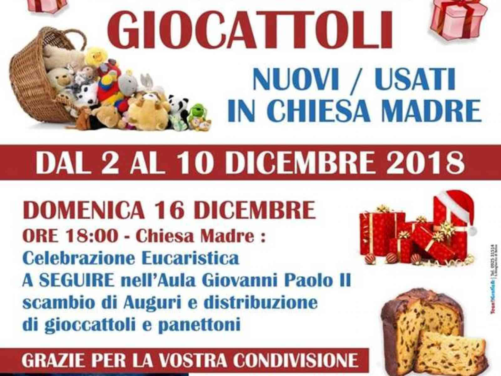 Immagine articolo: Santa Margherita di Belice, dal 2 Dicembre via a raccolta giocattoli nuovi o usati