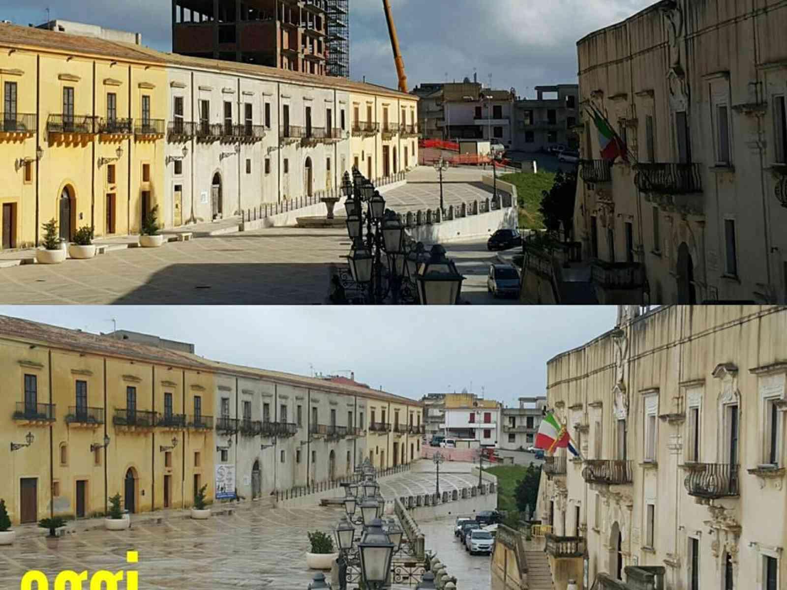 """Immagine articolo: A Santa Margherita rimosso """"l'ecomostro"""" che per mezzo secolo ha dominato sulla piazza Matteotti e non solo"""